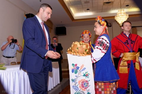 Kyiv Mayor Vitaliy Klitschko's visit to Chicago's Ukrainian community.
