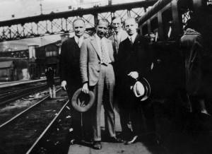 Париж, 1929 Зліва направо Григорій Каленик Лисюк, Євген Коновалець, Іван Рудаків, Микола Сціборський.