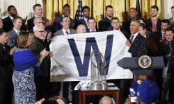 Чикаго Кабс відвідали Білий дім, щоб відсвяткувати чемпіонство в Світовій серії
