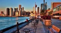 2 Building-font-b-Navy-b-font-font-b-Pier-b-font-sunrise-font-b-Chicago-b