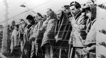 Узники концентрационного лагеря Освенцим