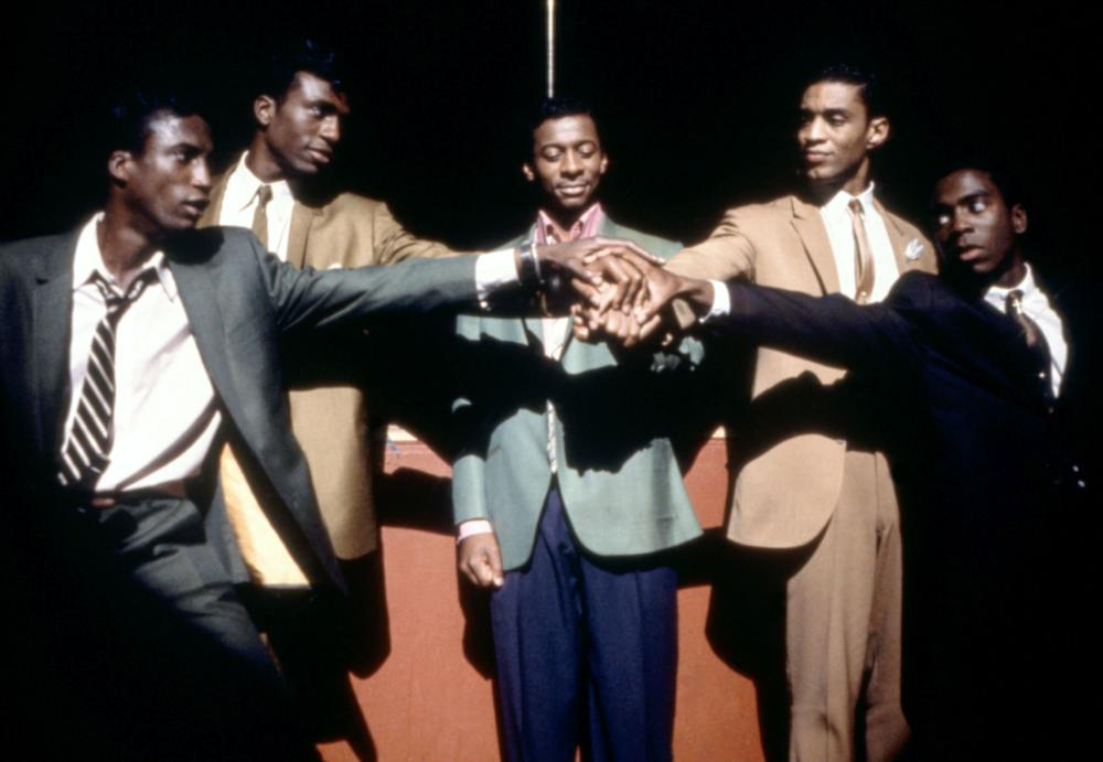THE FIVE HEARTBEATS, l-r: Michael Wright, Leon, Robert Townsend, Harry J. Lennix, Tico Wells, 1991, TM and Copyright (c)20th Century Fox Film Corp. All rights reserved.