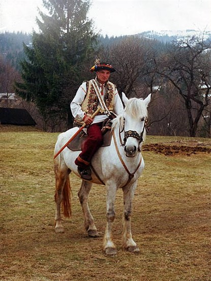 Hutsul on horseback