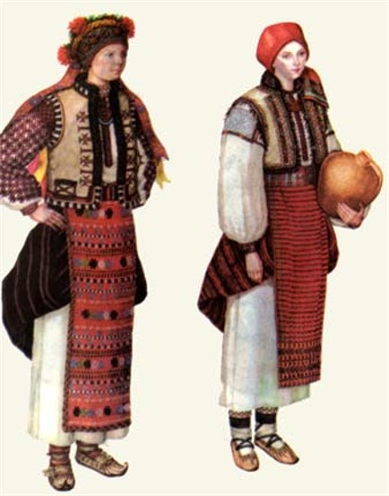 Hutsul womans dress