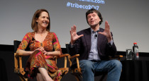 "NEW YORK, NY - APRIL 28:  Director Lynn Novick (L) and director/producer Ken Burns speak onstage during a panel discussion at ""The Vietnam War"" premiere during the 2017 Tribeca Film Festival at SVA Theater on April 28, 2017 in New York City.  (Photo by Dia Dipasupil/Getty Images for Tribeca Film Festival)"