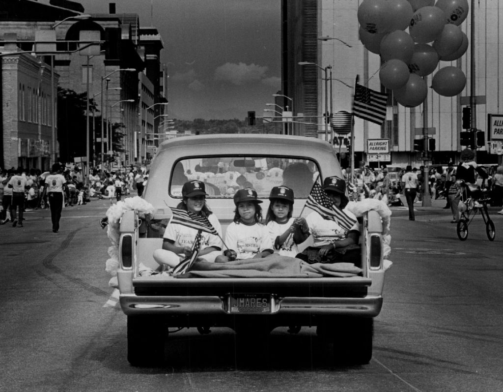 SEP 2 1986; Parades - Denver; Labor Day; Labor Day parade along 14th st.; (Photo By Lyn Alweis/The Denver Post via Getty Images)