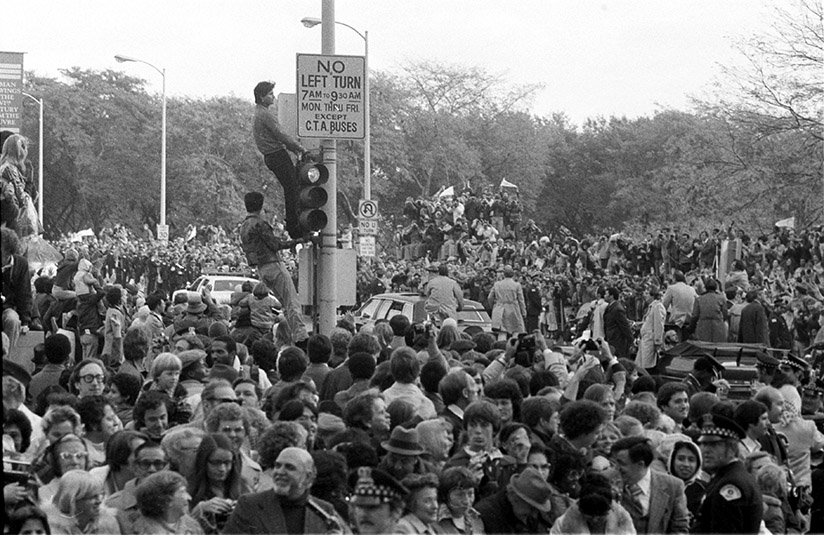 As was the case wherever the Holy Father went, huge crowds turned out in Chicago when Pope John Paul II came in 1979. (John H. White photo)