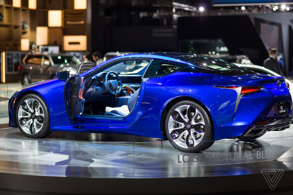 Lexus showed off an almost entirely blue version of the LC 500, which it designed in honor of a specific hue the company supposedly took 15 years to develop.