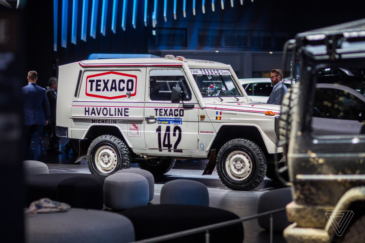 Mercedes-Benz probably hopes the new G Wagen takes on as many different lives as past versions, like this 1983 Paris to Dakar rally winner.