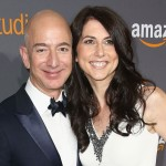 BEVERLY HILLS, CA - JANUARY 08:  Amazon Founder/CEO Jeff Bezos (L) and MacKenzie Bezos attend Amazon Studios Golden Globes Celebration at The Beverly Hilton Hotel on January 8, 2017 in Beverly Hills, California.  (Photo by Joe Scarnici/Getty Images for Amazon)