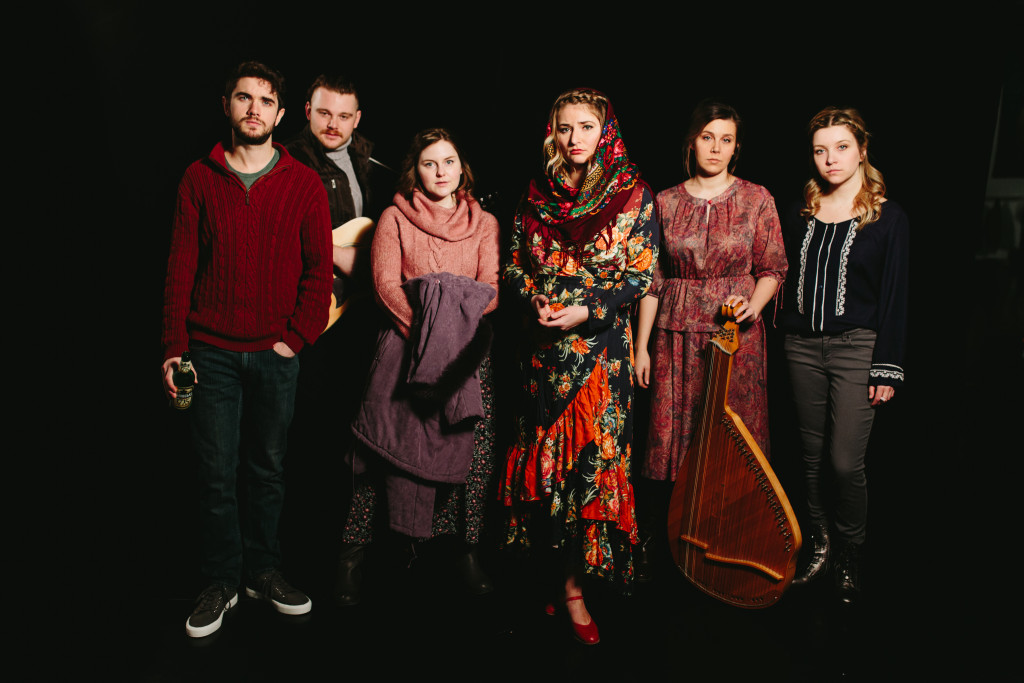 Blood of Our Soil by Lianna Makuch - (left to right) Oscar Derkx, Maxwell Lebeuf, Julia Guy, Lianna Makuch, Larissa Pohoreski, Tanya Pacholok. Photo by Mat Simpson