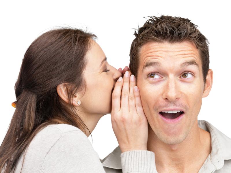 Woman-tells-secret